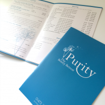 Brochure Print Design Purity Beauty