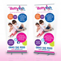 Pop Up Banner Designer Ipswich Dotty Fish