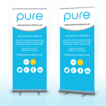 Pop Up Banner Woodbridge Pure Accountants