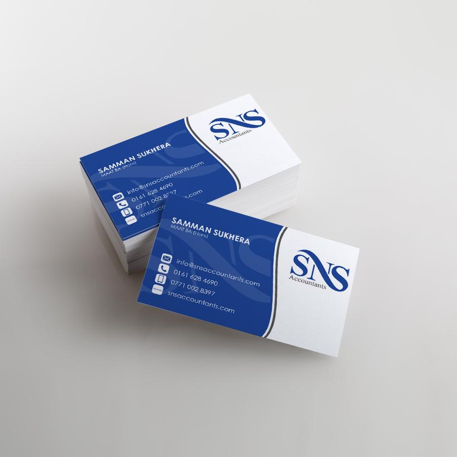 SNS Accountants Business Cards Print - KeaKreative Graphic Design