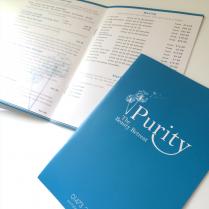 Brochure Print Design Purity Beauty