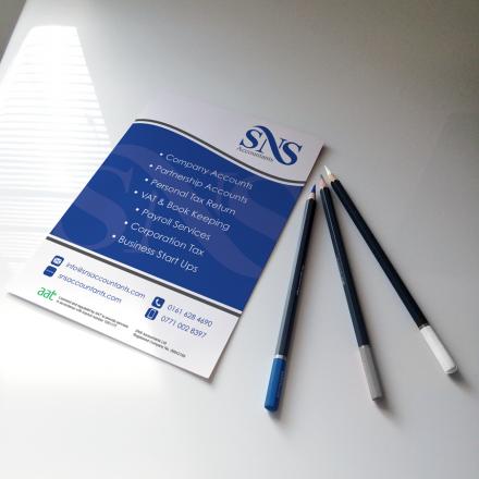 SNS-Accountants-A5-Leaflet Print