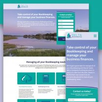 Delta Bookkeeping Website Design Woodbridge