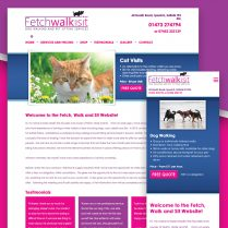 Fetch Walk and Sit Website Design Ipswich