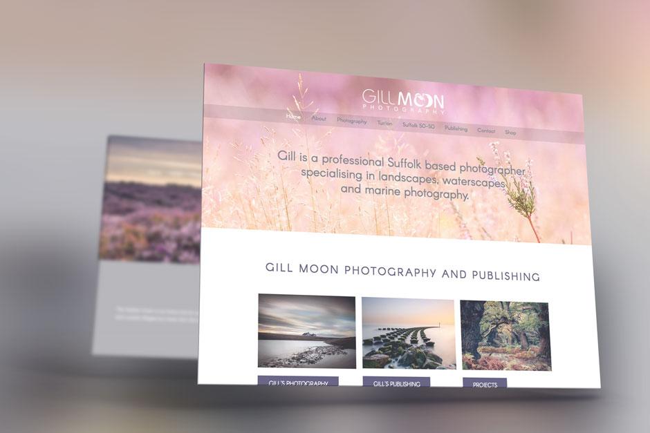 Gill Moon Photography Website Design Woodbridge