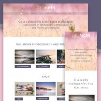 Gill Moon Photography Website Design Woodbridge
