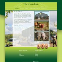 Web Design The Green Barn Farmshop