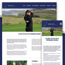 Robert Joyce Golf Pro Website Design Woodbridge