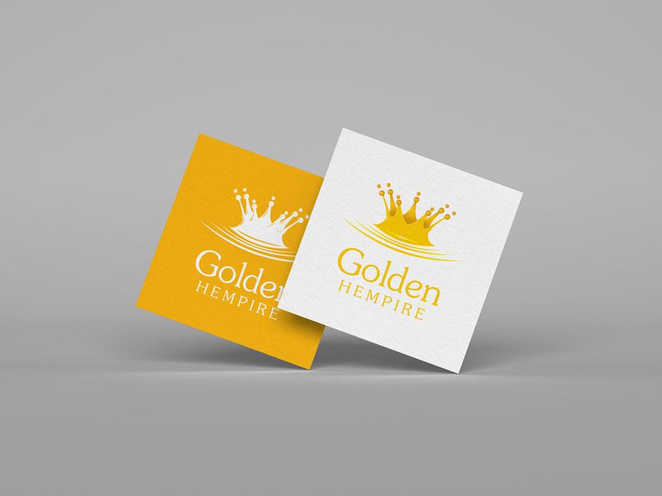 Golden Hempire Company Logo Design Felixstowe